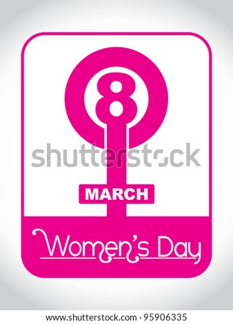 Creative women's day design element. vector illustration