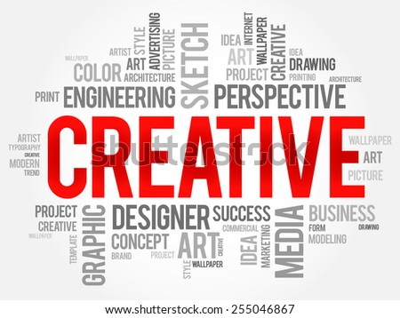 CREATIVE Word Cloud Business Concept