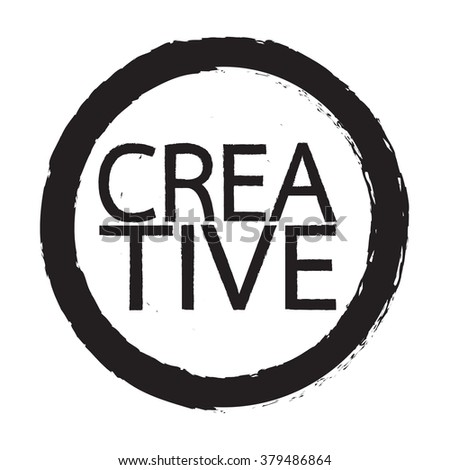 Creative word Illustration design - stock vector