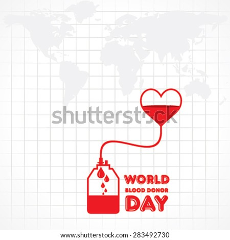 Creative World Blood Donor Day Greeting stock vector  - stock vector