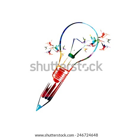 Creative writing concept - stock vector