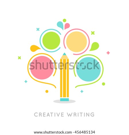 Creative Writing Plan Infographics Vector Template - stock vector