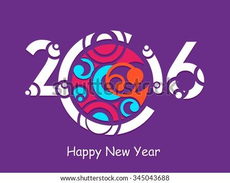 Creative 2016 year design.  - stock vector