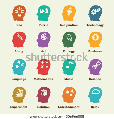 creativity elements, vector infographic icons - stock vector