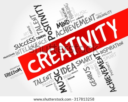 Creativity word cloud concept - stock vector