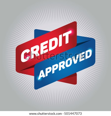 CREDIT APPROVED arrow tag sign.