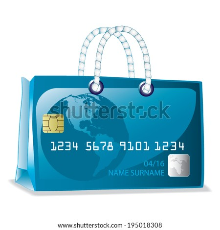 Credit card bag vector - stock vector