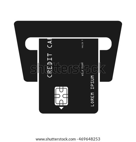 credit card bank icon vector isolated design