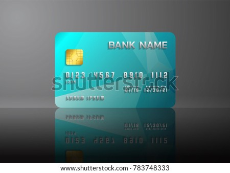 Credit card blue on grey background stock vector 783748333 credit card blue on grey background with shadow abstract design for business colourmoves