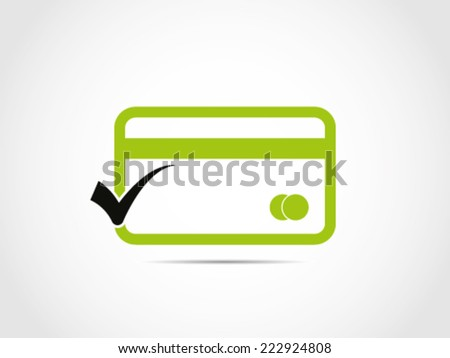 Credit Card Checked - stock vector