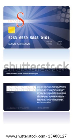 credit card, chip, money - stock vector
