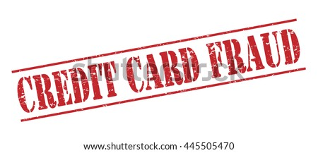 credit card fraud vector stamp on white background - stock vector