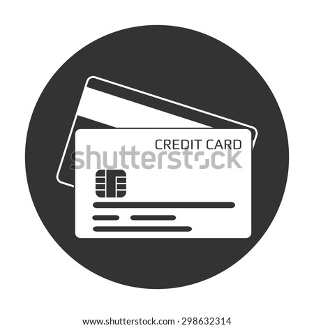 Credit card icon. - stock vector