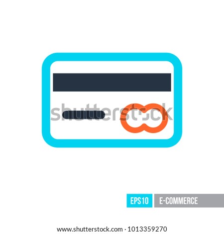 credit card icon ecommerce sign graph stock vector 2018 1013359270 rh shutterstock com black and white credit card logos vector