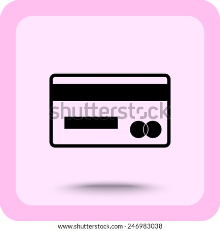 Credit card icon sign icon, vector illustration. Flat design style