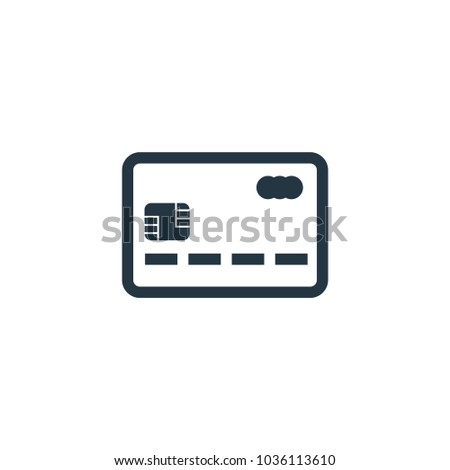 Credit Card Icon Simple Element Illustration Stock Vector Royalty