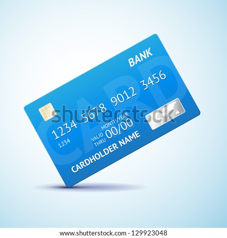 Credit card Isolated - stock vector