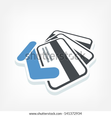 Credit card label - stock vector