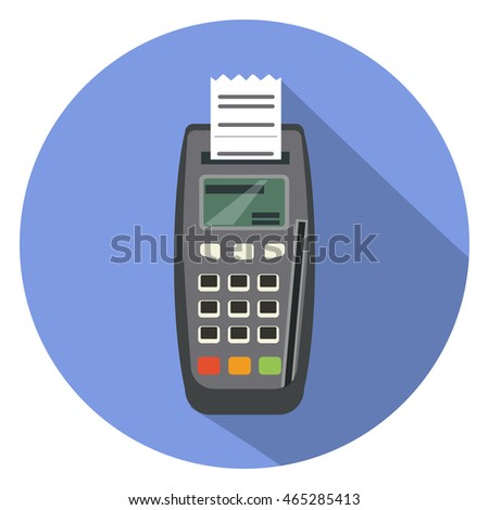 credit card machine flat icon