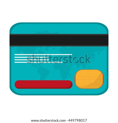 credit card money business icon isolated vector illustration
