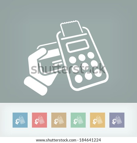 Credit card payment - stock vector