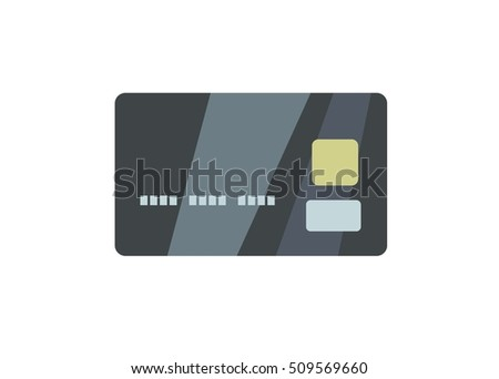 credit card simple illustration, front view