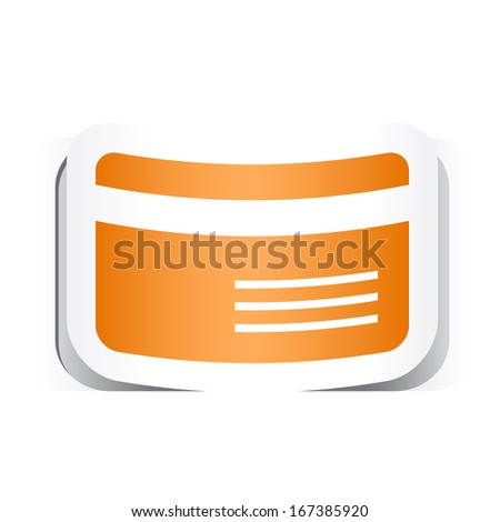 Credit Card Symbol with Paper Design. - stock vector