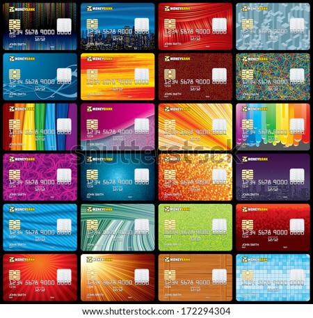 Credit Card Templates Vector. Ready for Your Text and Design.
