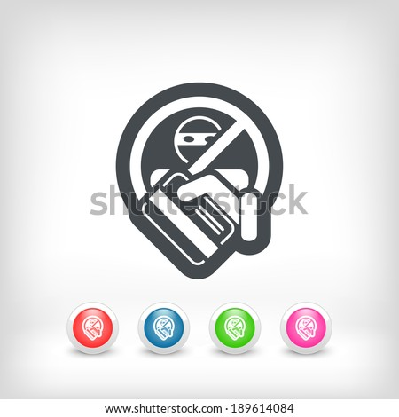 Credit card theft - stock vector