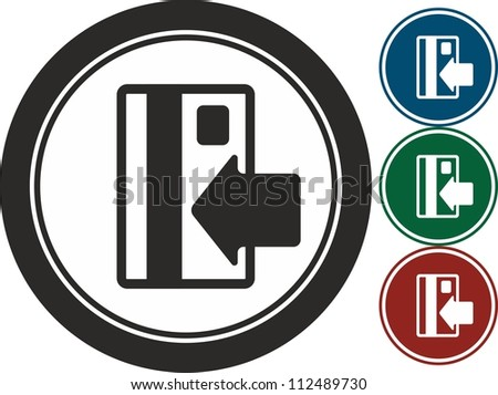 Credit card ,vector, icon - stock vector
