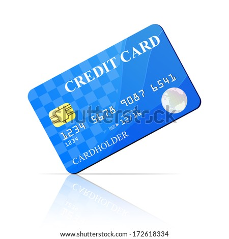 Credit Card. Vector illustration