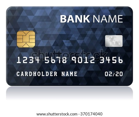 Credit Card Vector illustration of black credit card isolated on white background - stock vector