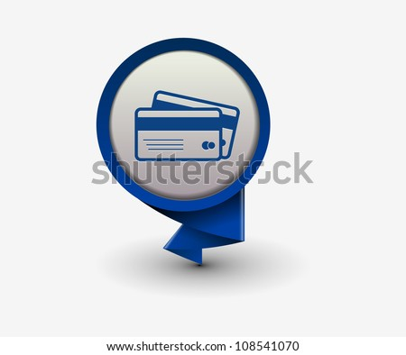 credit cards icon, vector - stock vector