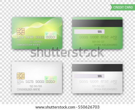 Credit Cards Mock Example On Transparent Stock Vector 550626703 ...