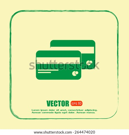credit Cards vector icon - stock vector