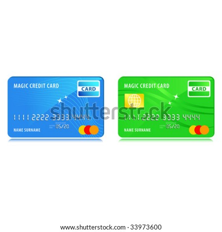 Credit cards, vector illustration