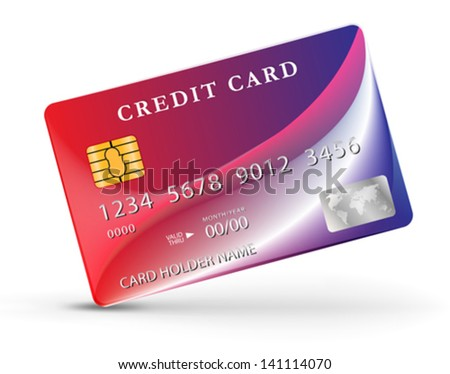 Credit or debit card design template. Vector illustration - stock vector