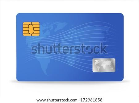 Credit or debit card design template. Vector illustration - stock vector