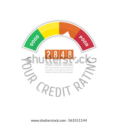 Credit Score Gauge. Vector illustrations manometer on white background. Vector EPS 10. - stock vector