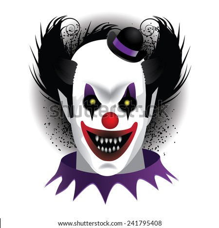 Creepy Clown EPS 10 vector stock illustration - stock vector