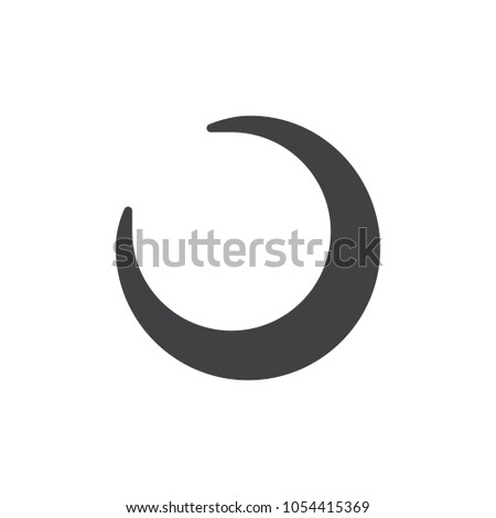 Crescent Moon Icon Vector Filled Flat Stock Vector 2018 1054415369