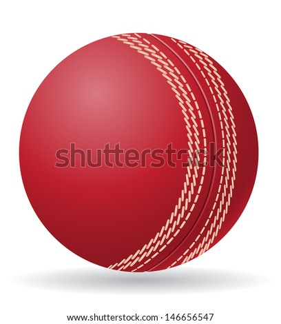 cricet ball vector illustration isolated on white background