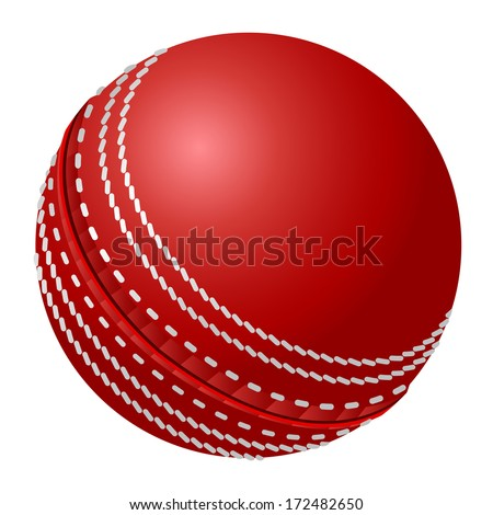 Cricket ball - stock vector
