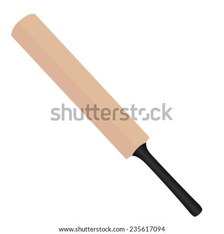 Cricket bat, cricket bat vector, cricket bat isolated - stock vector
