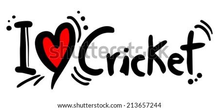 Cricket love - stock vector