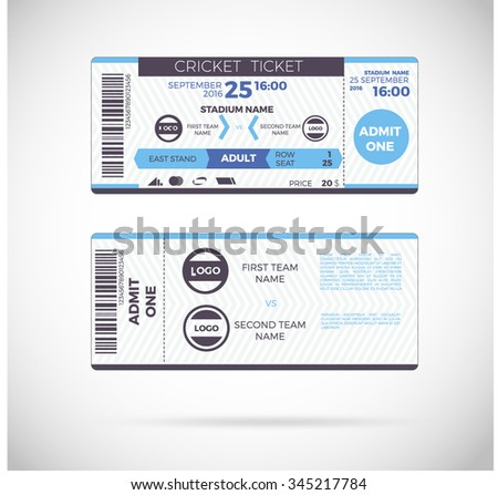 Event Ticket Images RoyaltyFree Images Vectors – Sporting Event Ticket Template