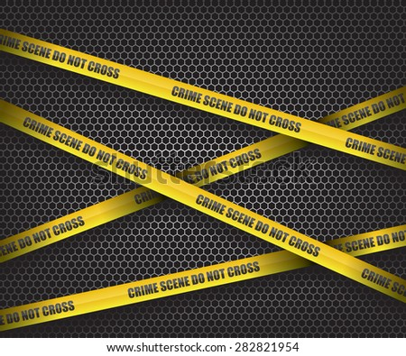 Crime scene do not cross - stock vector