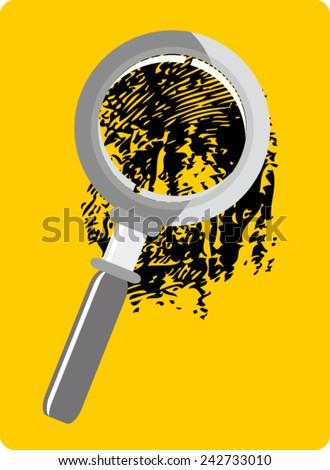 crime scene investigation - stock vector