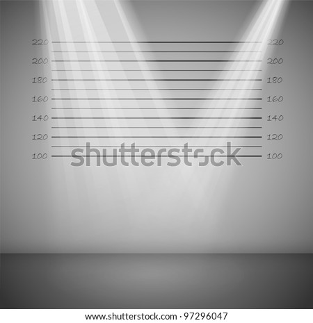 Criminal background with lines and rays of light - stock vector