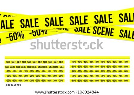 Criminal sale ribbons - stock vector